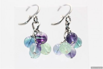 Boucles grappes fluorite