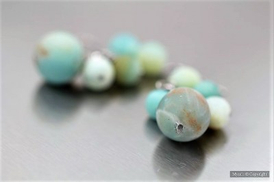amazonite mate boucles